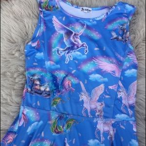 Unicorn Pegasus  skater dress fairies angels